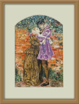 One of my favourite paintings, I copied Millais 'A Huguenot on st. Bartholomews Day
