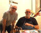 Chuck Close and me in his New York studio