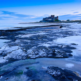 Bamburgh Castle, winter