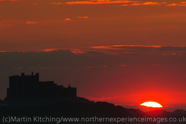 Sunset, Bamburgh Castle