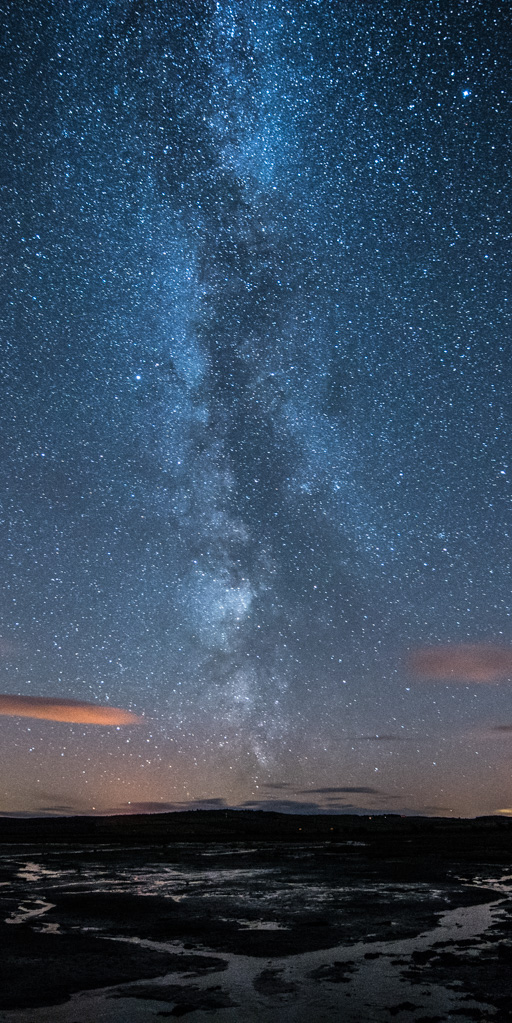 Milky Way from the Holy island causeway