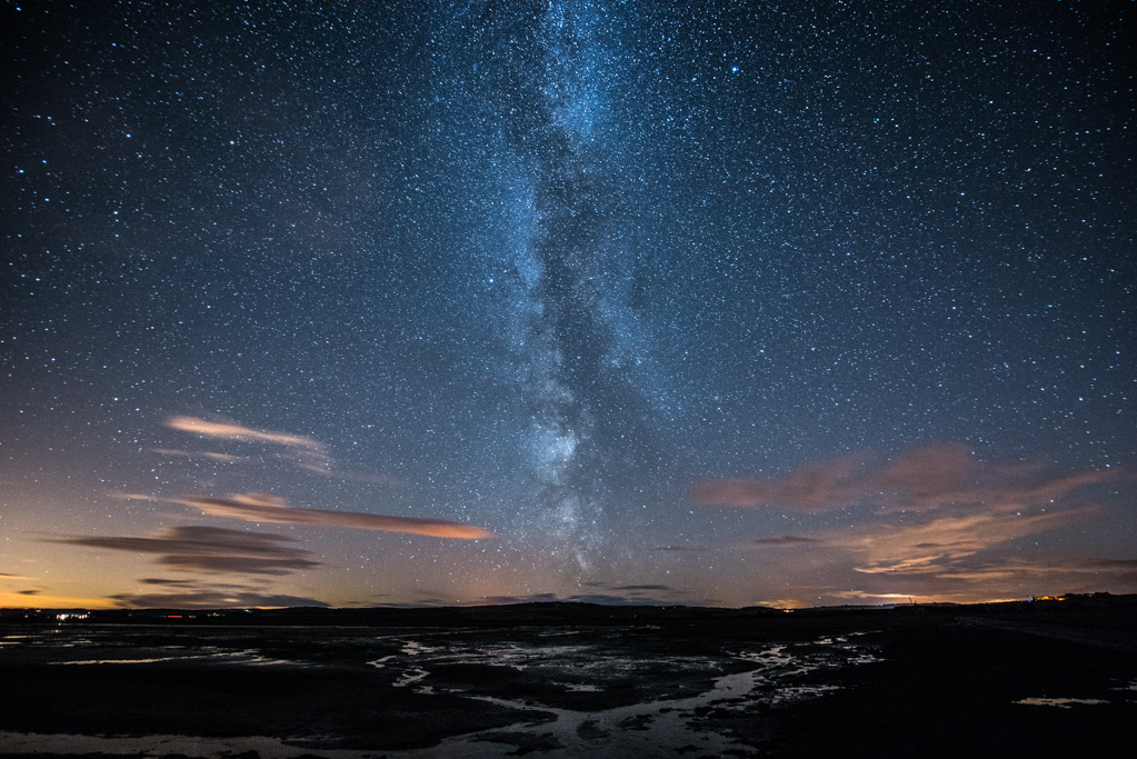 Milky Way from Holy Island causeway