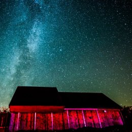 Milky Way over the Battlesteads Observatory