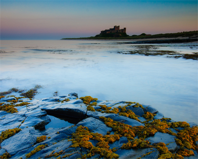 Bamburgh Castle, fading light