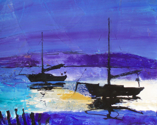 'Boats, Evening Light'