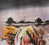 'Orford Ness, Buildings in Evening Light'