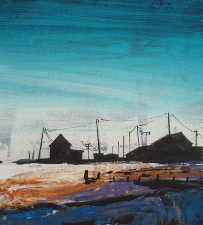 'Orford Ness, Blue Sky'