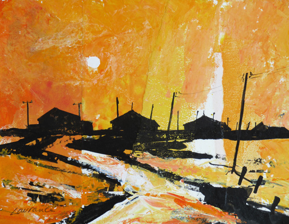'Orford Ness, Low Sun'