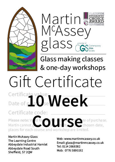 10 Week Course Gift Certificate