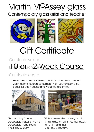 10 or 12 Week Course Gift Certificate