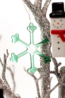 Snowflake (Green) Christmas decoration