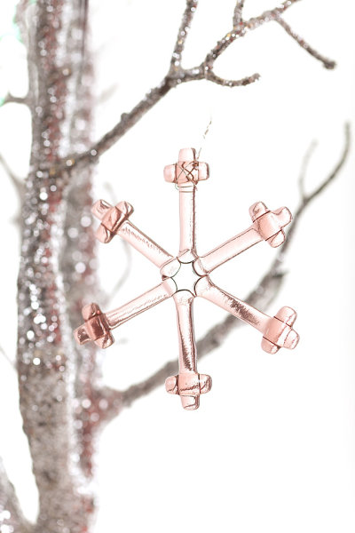 Snowflake (Peach) Christmas decoration
