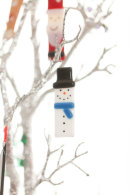 Snowman (blue scarf) Christmas decoration