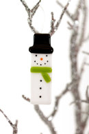 Snowman (green scarf) Christmas decoration