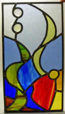 Stained glass panel by Carol Binney