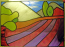 Stained glass panel by Eleanor Francis