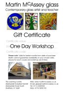 One day workshop gift certificate