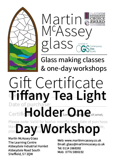 Tiiffany Tea Light One Day Workshop
