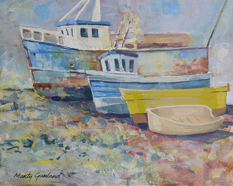 Balbriggan Harbour boats