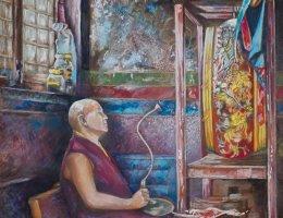 Monk in the Temple - Kathmandu, Nepal