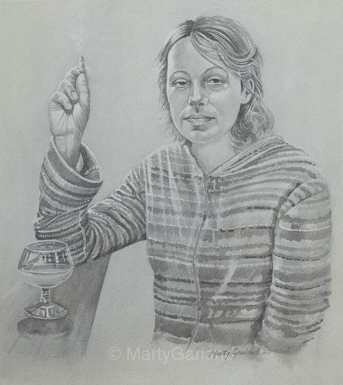 Smoking Woman 2