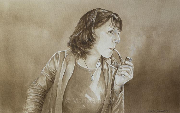 Smoking woman 1