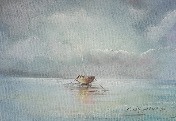 Moored Boat - SOLD