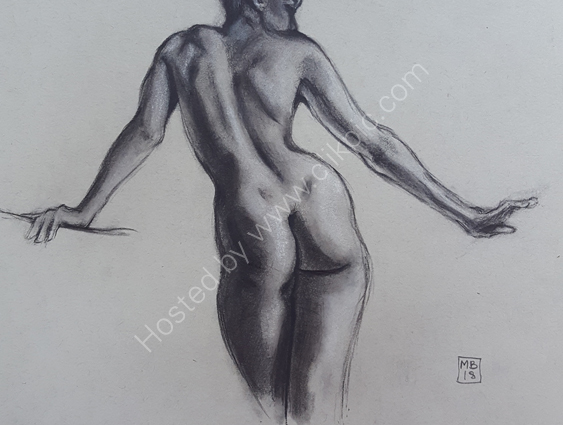 Charcoal and chalk 1