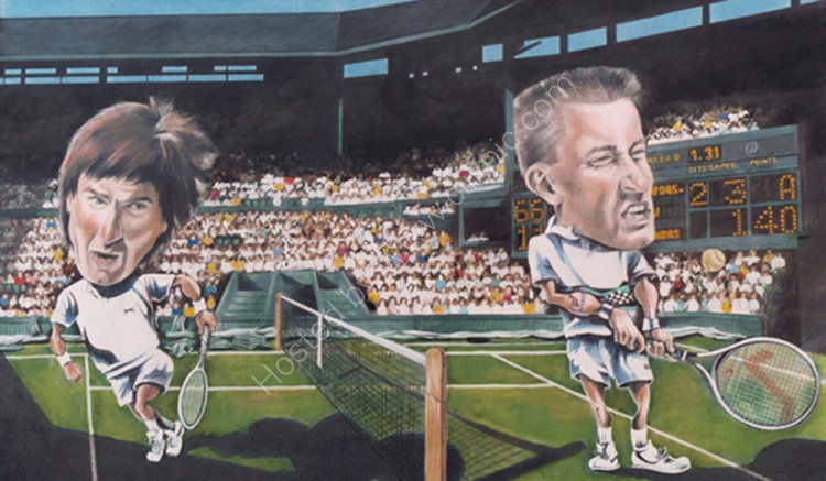 Jimmy Connors and Mikael Pernfors