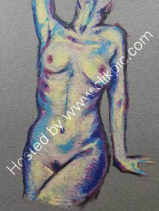 Oil pastel study 5