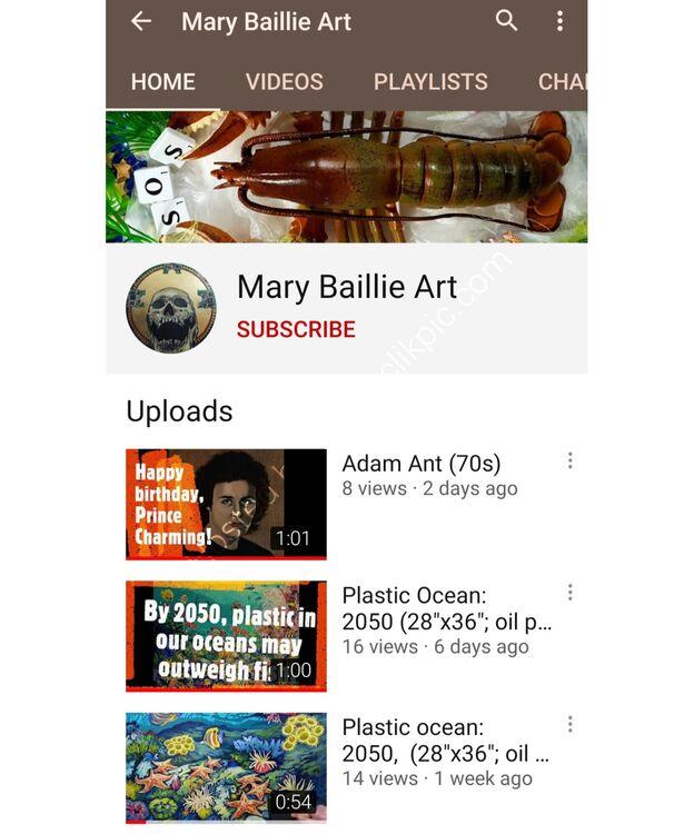 YouTube channel: Mary Baillie Art