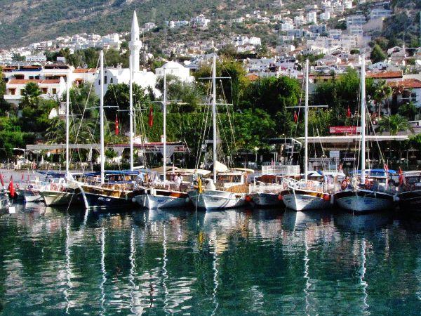 Marina in Kalkan, Turkey