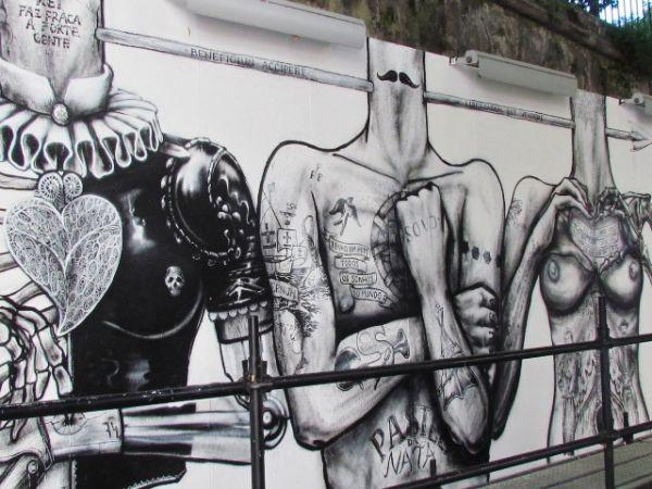 Street art near Elevador da Gloria, Lisbon