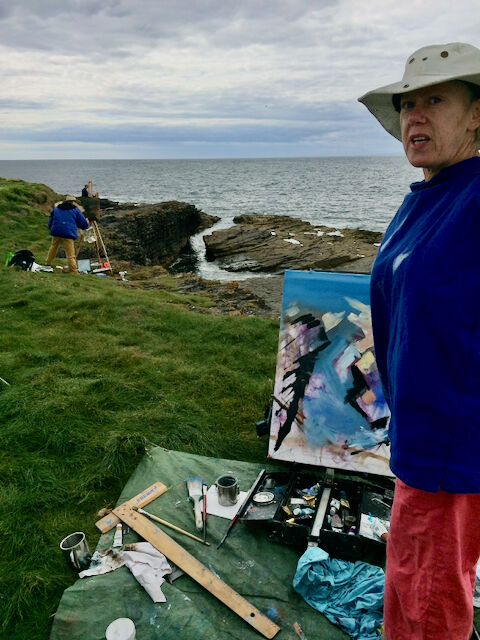 Painting at Hook Head in Wexford (Mary Duffy)