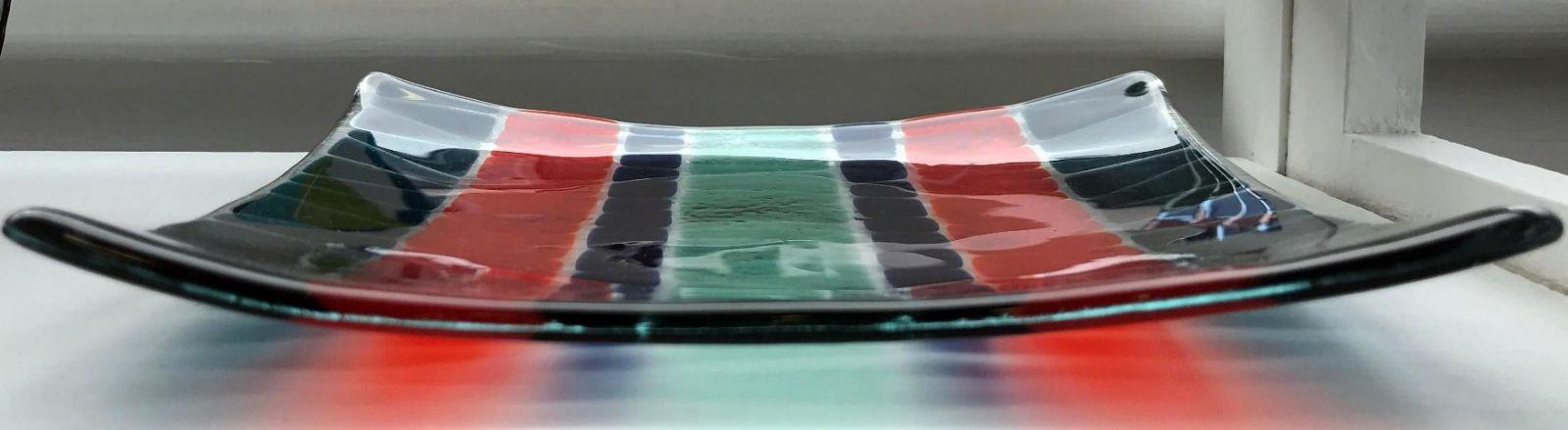 Orange stripe platter
