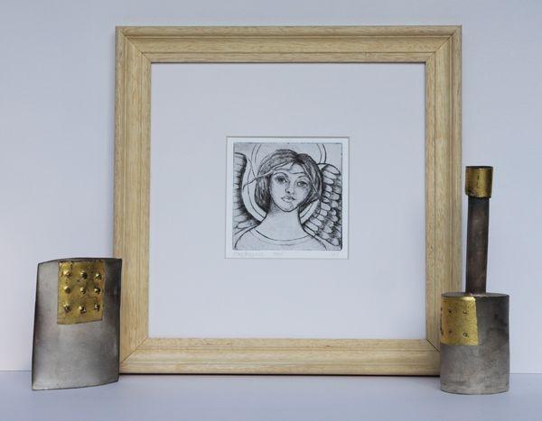 'Angel' Framed Etching (Black & White)