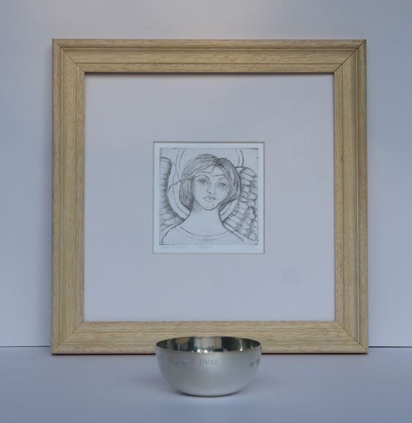 'Angel' Framed Etching (Graphite)