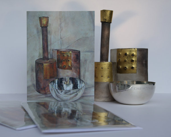 'The Silver Bowl' Greetings Card