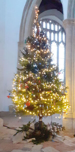 Blythburgh Church Christmas Tree