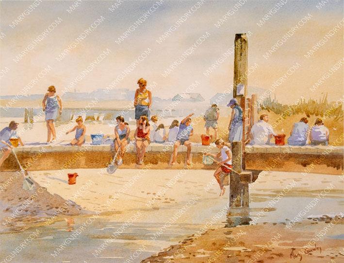 Afternoon Crabbing, Walberswick