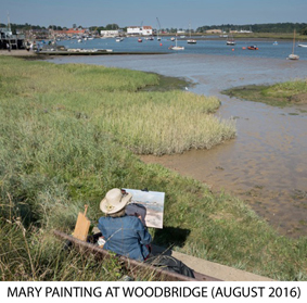 Mary painting at Woodbridge (August 2016)