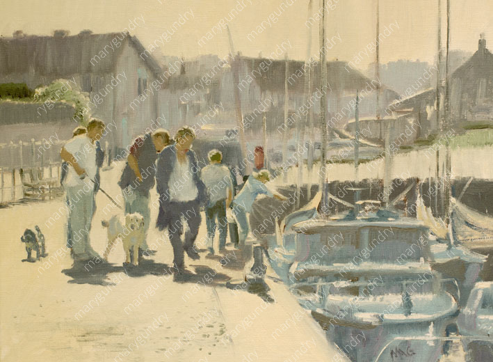 Crabbing on Blakeney Quay