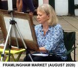 Mary painting in Framlingham Market