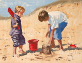 Red Bucket and Spade