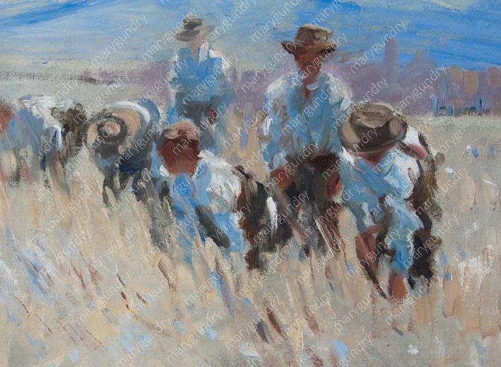 Working Men in the Field