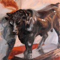 Still Life with Bull Statuette