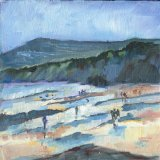 Beach at Robin Hood's Bay. SMALL PAINTING