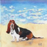 Basset Hound. SMALL PAINTING