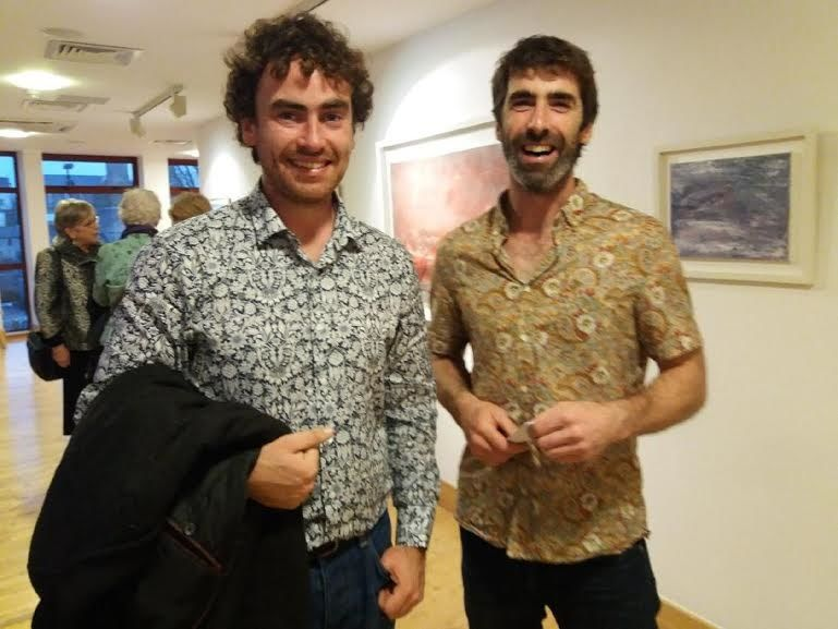 Eoghan and Colm at Veiled Spaces Exhibition