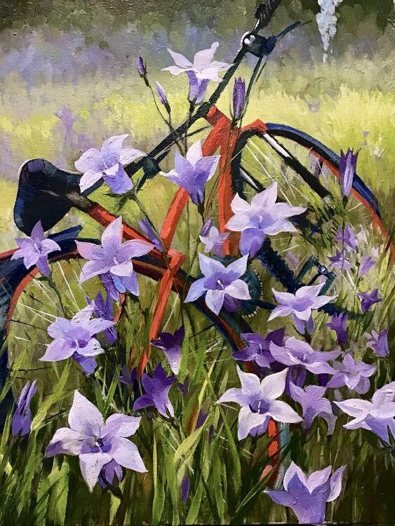 Summer ride, bluebells